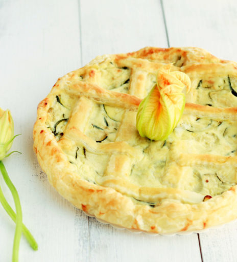 torta salata estiva ricotta e zucchine