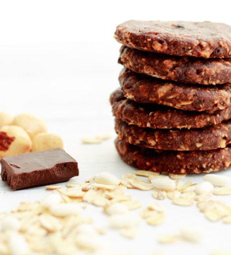 biscotti integrali al cacao e cereali