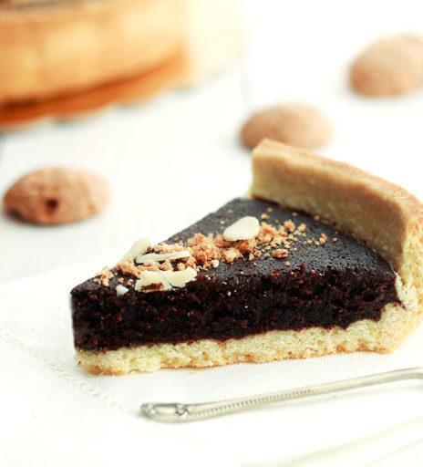 crostata cacao e amaretti
