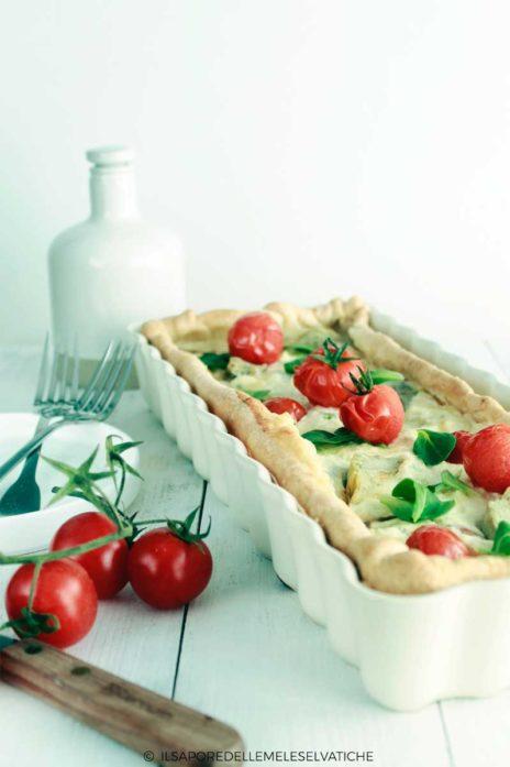 Spring Vegetable Ricotta Tart