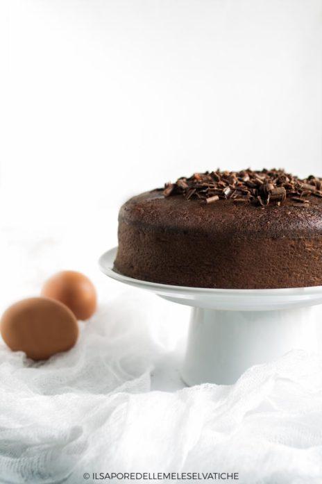 torta di soli albumi al cacao